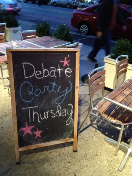  Watch the Vice Presidential Debate at Lido Tonight!