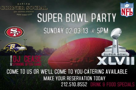 76346 281733351953790 318952032 n SUPER BOWL XLVII In Harlem!! Where To Go