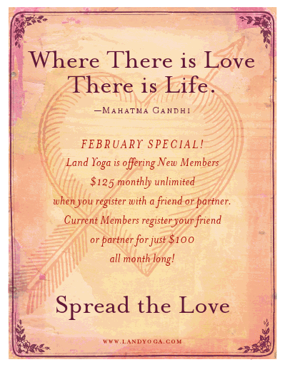 Land Yoga Love & Friendship Special