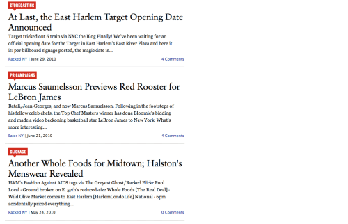 HarlemCondoLife In The News: Eater, Curbed and Racked (as of 3/29/13)