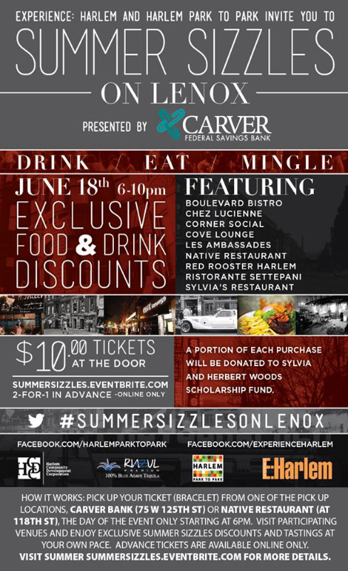 Lenox Avenue Sidewalks Sizzle on June 18th