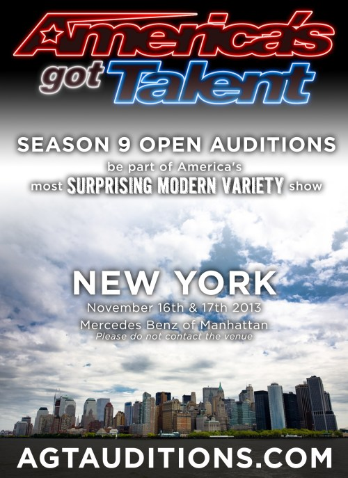 Harlem needs to come out and represent at Americas Got Talent open auditions this weekend