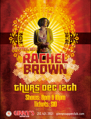 Ginnys Supper Club Presents An Evening With Rachel Brown