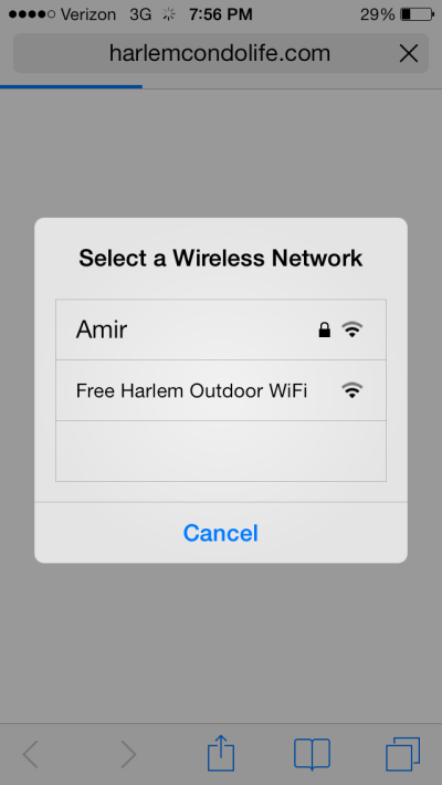 free wifi via harlemcondolife