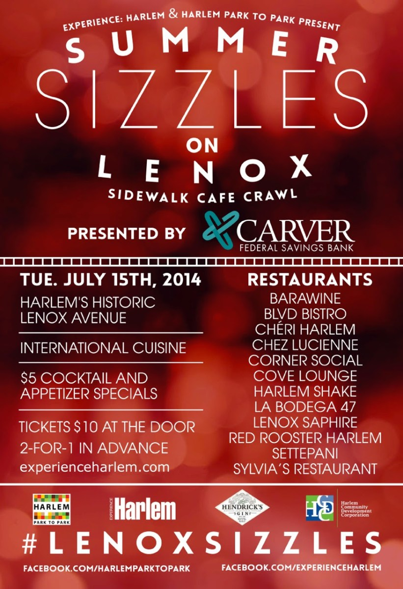Summer Sizzles On Lenox - Sidewalk Cafe Crawl In Harlem