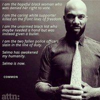 "QUOTE:  Common ""Selma is now"""