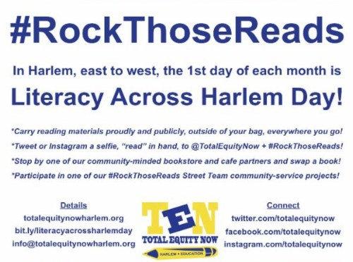 April 1st is Literacy Across Harlem Day