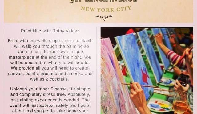 Paint Nite with Ruthy Valdez at Corner Social in Harlem
