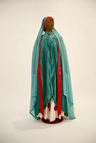 Green Lady from Dougla. 1974. Green dress, headdress, and white skirt. Courtesy of Dance Theatre of Harlem