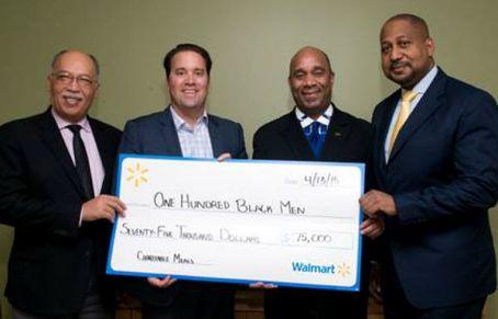 One Hundred Black Men Awarded $75000 Walmart Foundation Grant