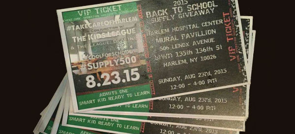 tickets for harlem haberdashery event