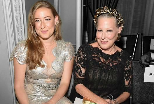 bette mideler and daughter at fashion week