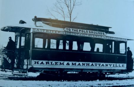 polo grounds trolley in harlem