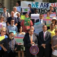 Elected Officials And Advocates Rally To Strengthen Parks From Harlem To Hollis