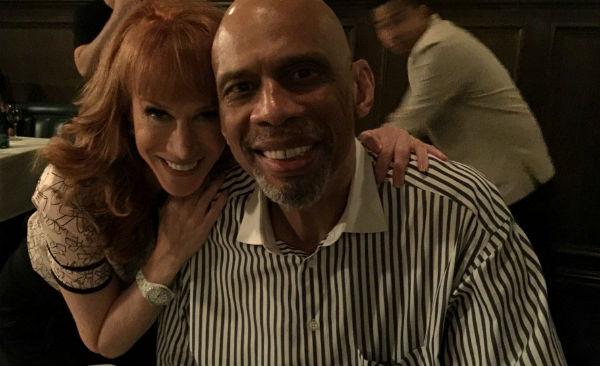 Kareem Abdul-Jabbar and Kathy Griffin