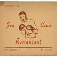 Joe Louis' Restaurant Souvenir Card, Harlem NY 1950's