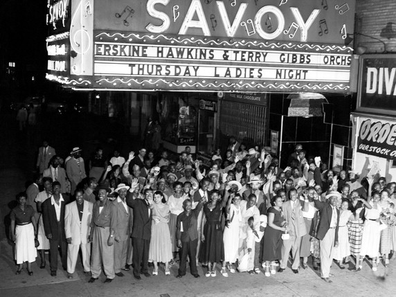 Crowd Outside the Savoy, Harlem