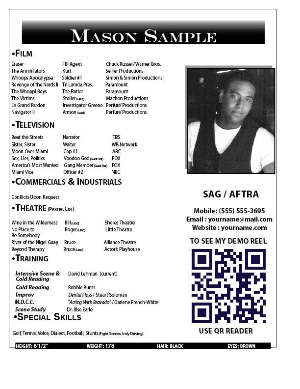 resume headshot examples
