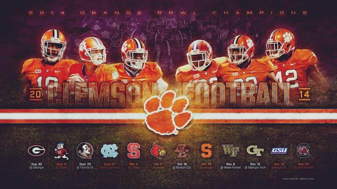 Clemson Tigers Iphone Wallpaper 2014 Clemson Football Wallpaper Harley Creative