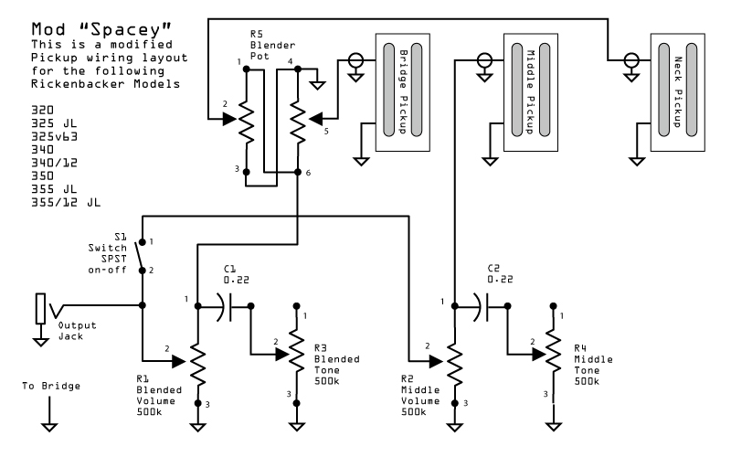 rickenbacker 450 wiring diagram