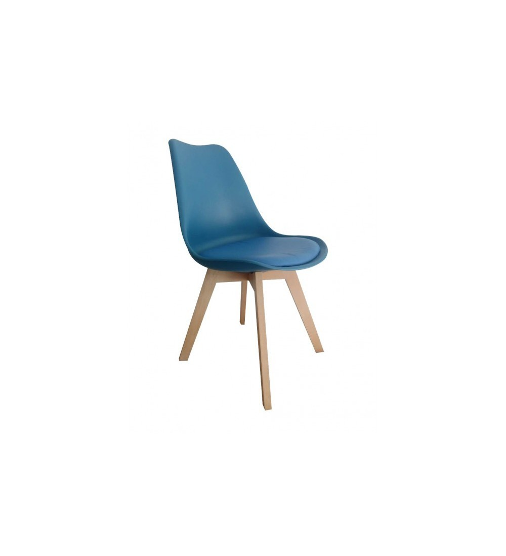 Chaise Scandinave Rembourrée Lot De 4 Chaises Scandinave Bleu Petrole