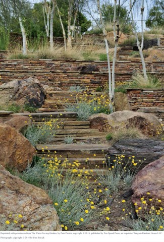 pg. 27--Stone steps and terracing evoke a cascading waterfall. Photo Credit_ Pam Penick copy copy