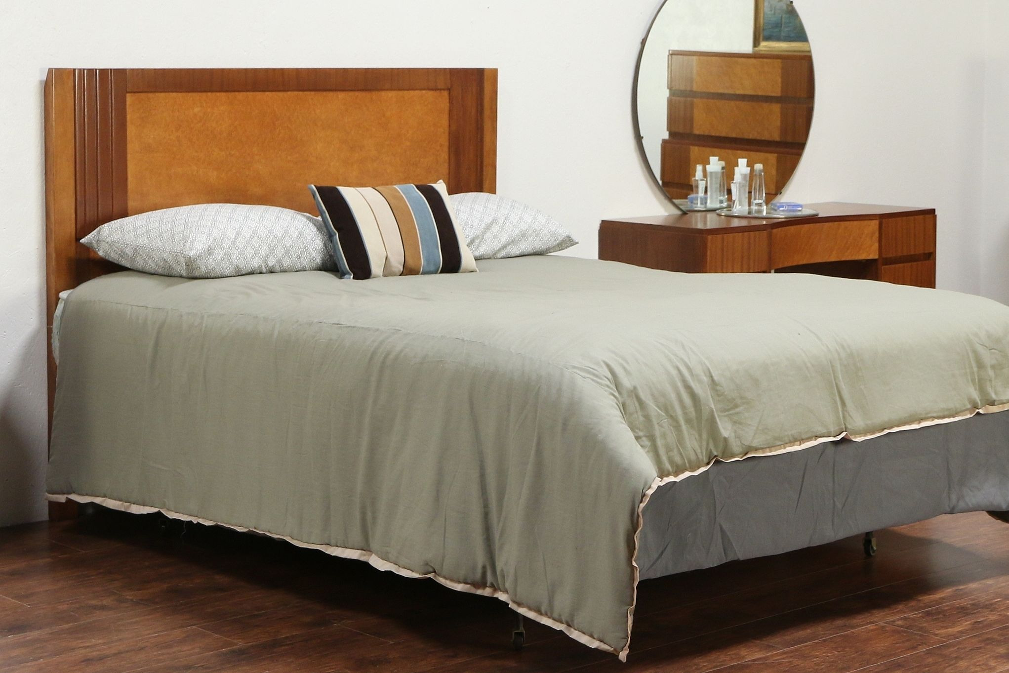 Bed Headboard Midcentury Modern Queen Size Bed Headboard Vintage Maple Mahogany Rway 29525