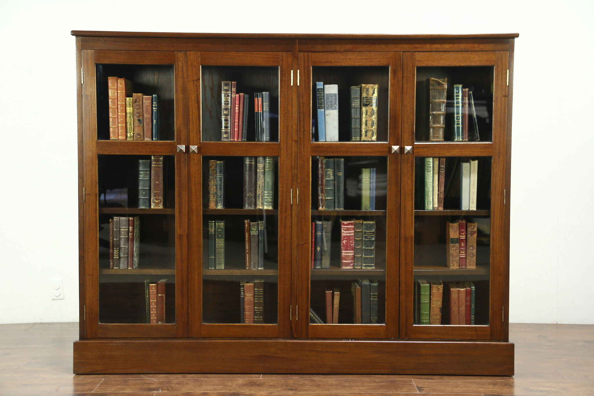 Vintage Bookcase Mahogany 1930 Vintage Library Bookcase 4 Doors Adjustable Shelves