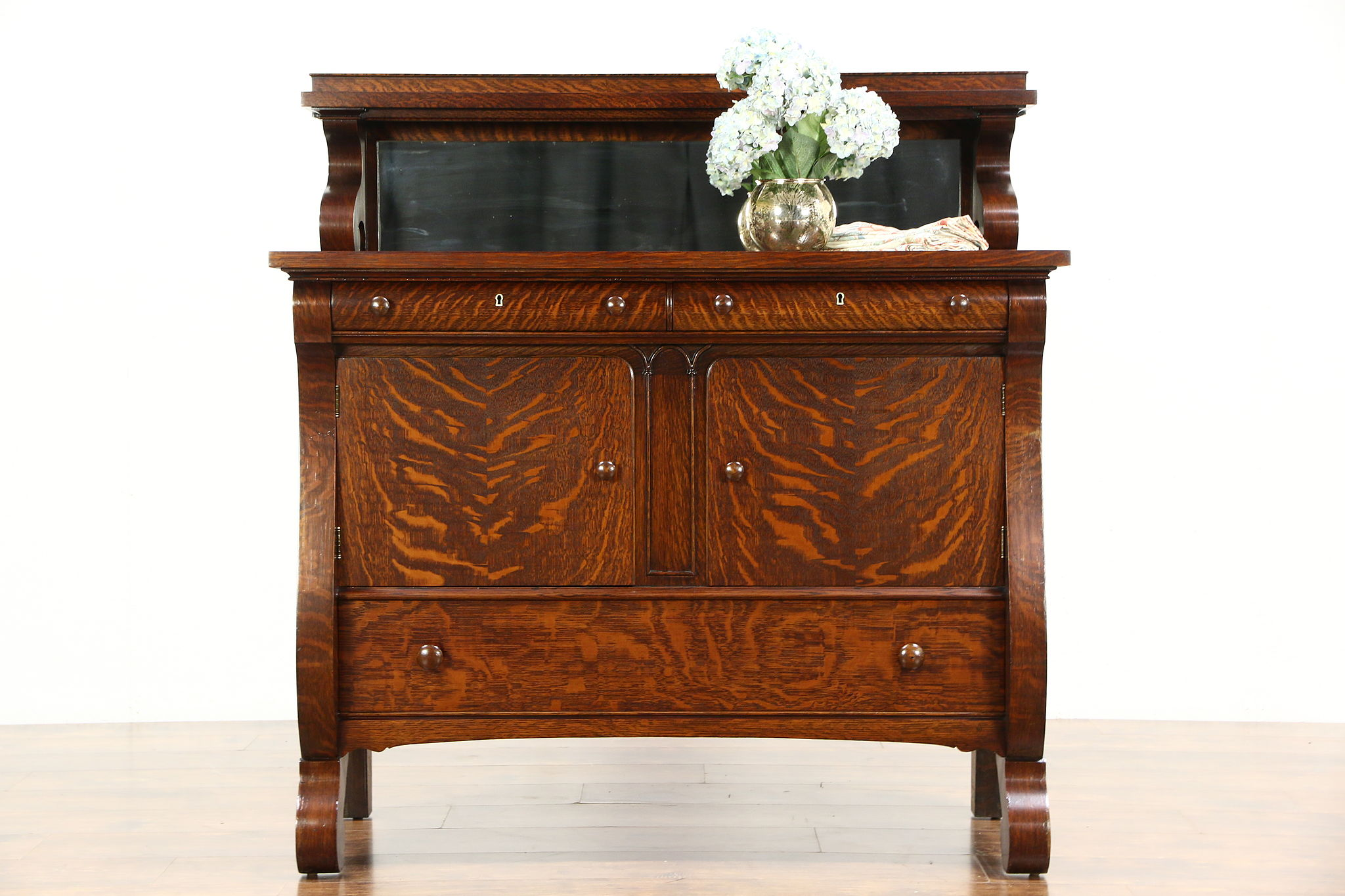 Vintage Oak Sideboard With Mirror Antique Sideboard Buffet With Mirror Mirror Ideas