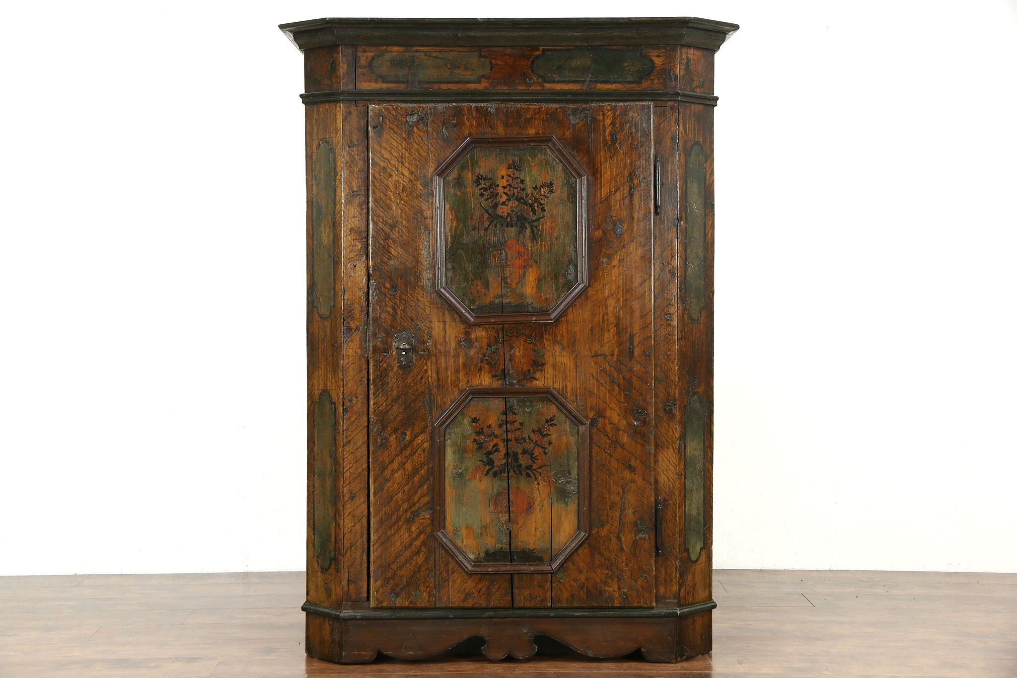 Schrank Schrank German Hand Painted 1700 S Antique Folk Art Dowry Armoire Or Cabinet