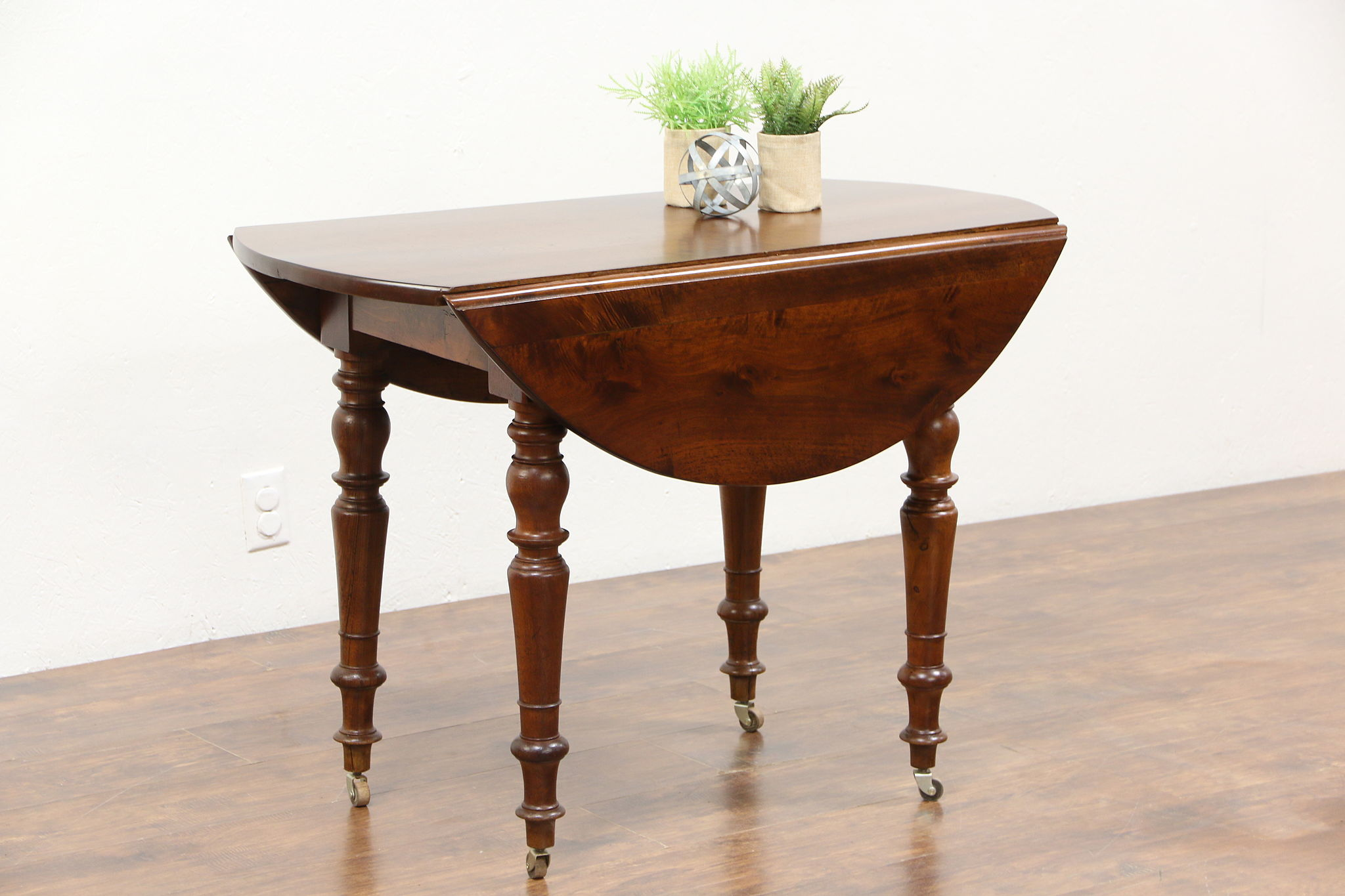Drop Leaf Table Sold - Victorian Round Drop Leaf Antique Walnut Game