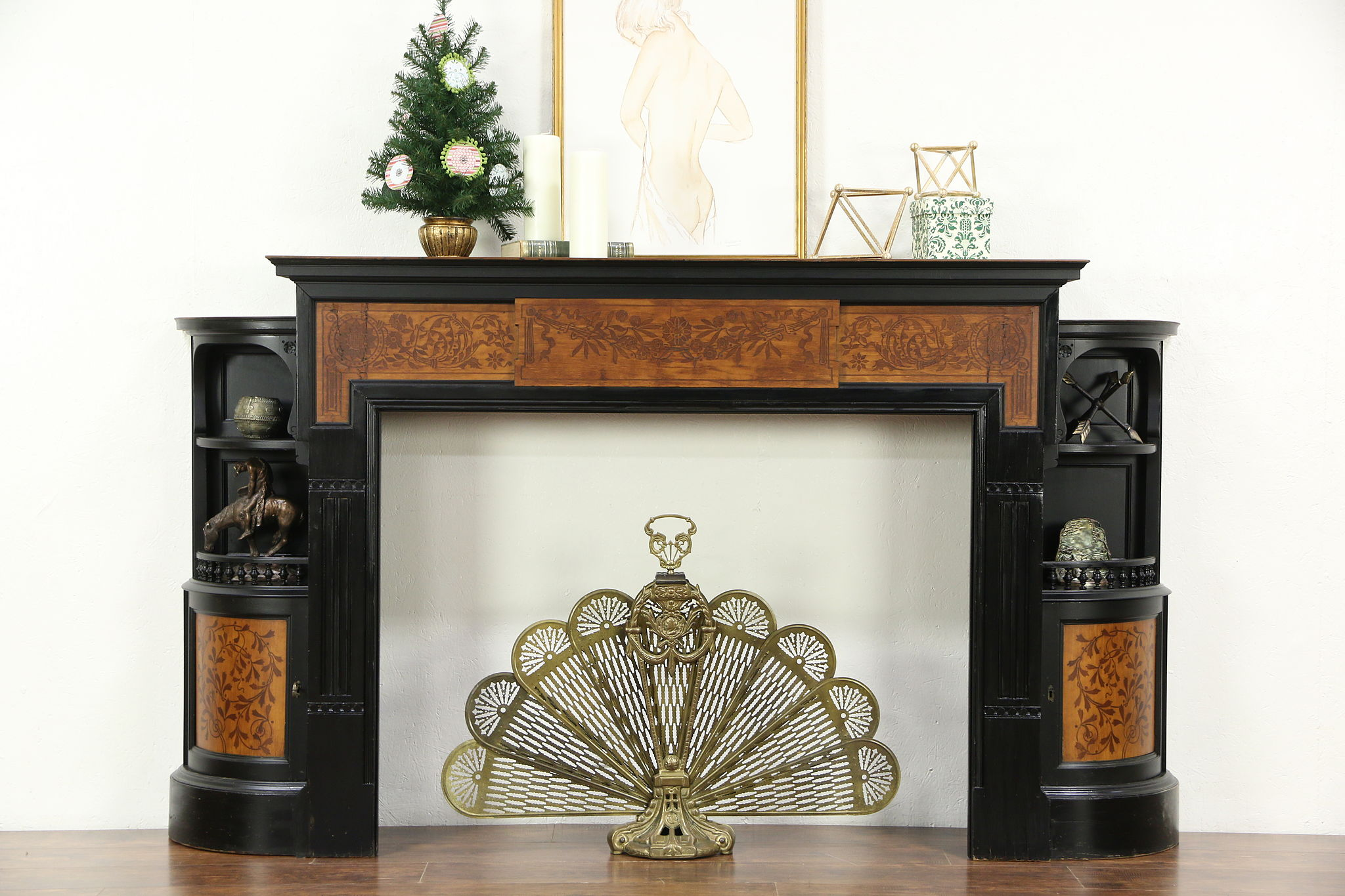 Cherry Fireplace Mantels Victorian Antique Architectural Salvage Ebonized Cherry Fireplace Mantel