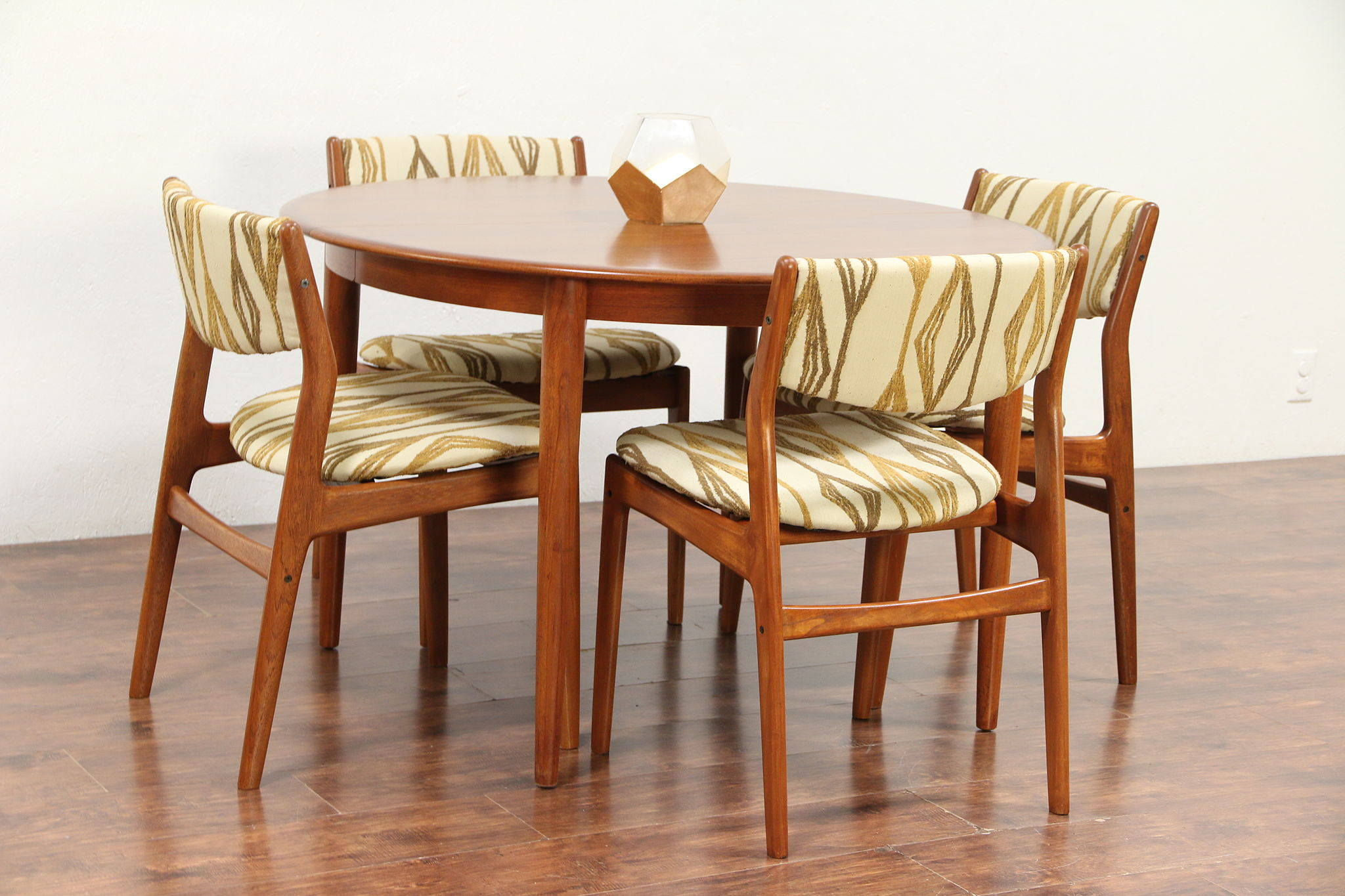 Modern Dining Set Midcentury Modern Danish Teak Dining Set Table 4 Chairs Glostrup 29717