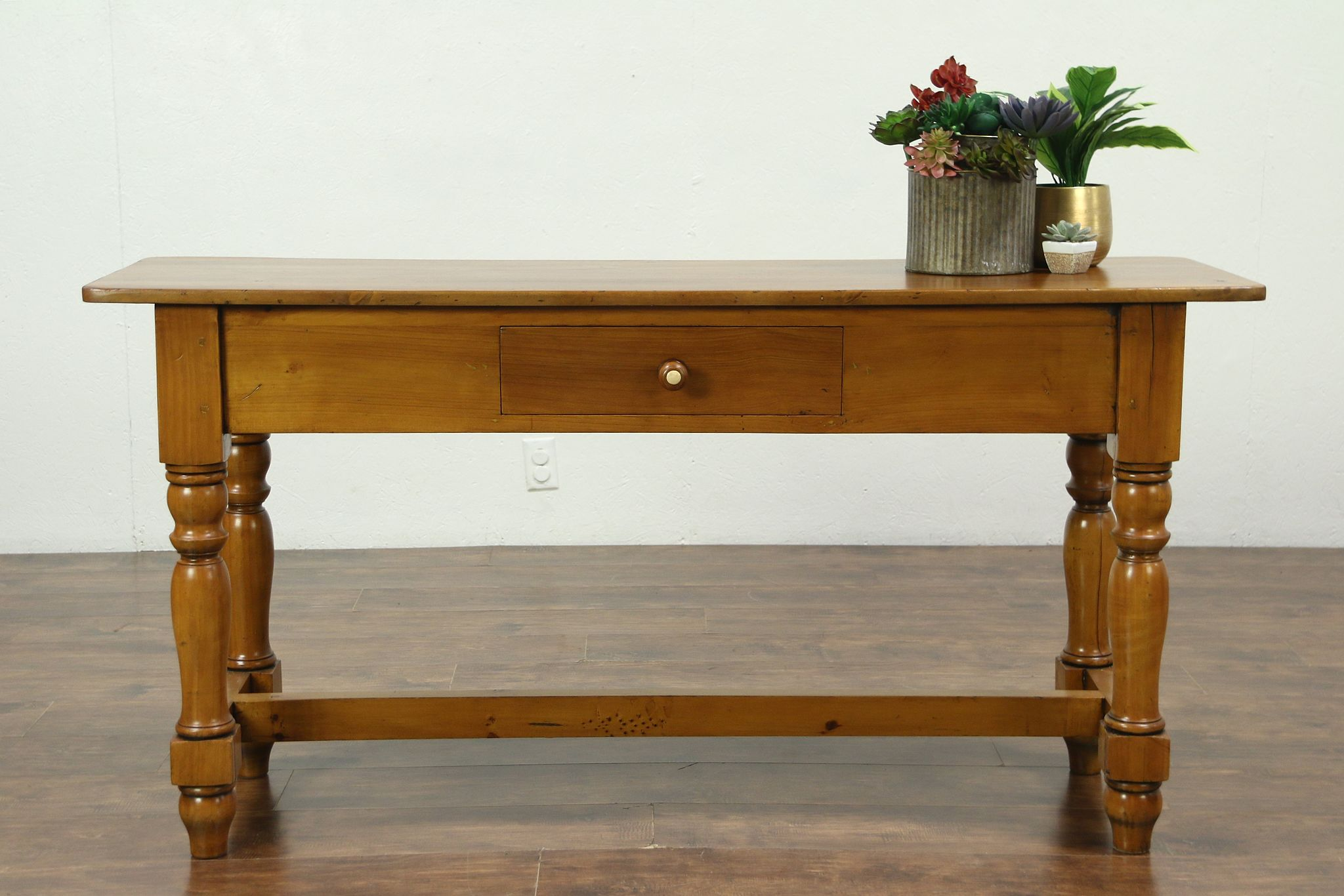 Vintage Hall Table Country Pine Vintage Sideboard Sofa Or Hall Table Tv Console