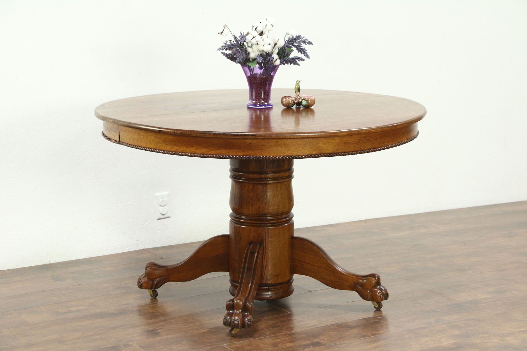 Round Oak Dining Table Round Oak 48