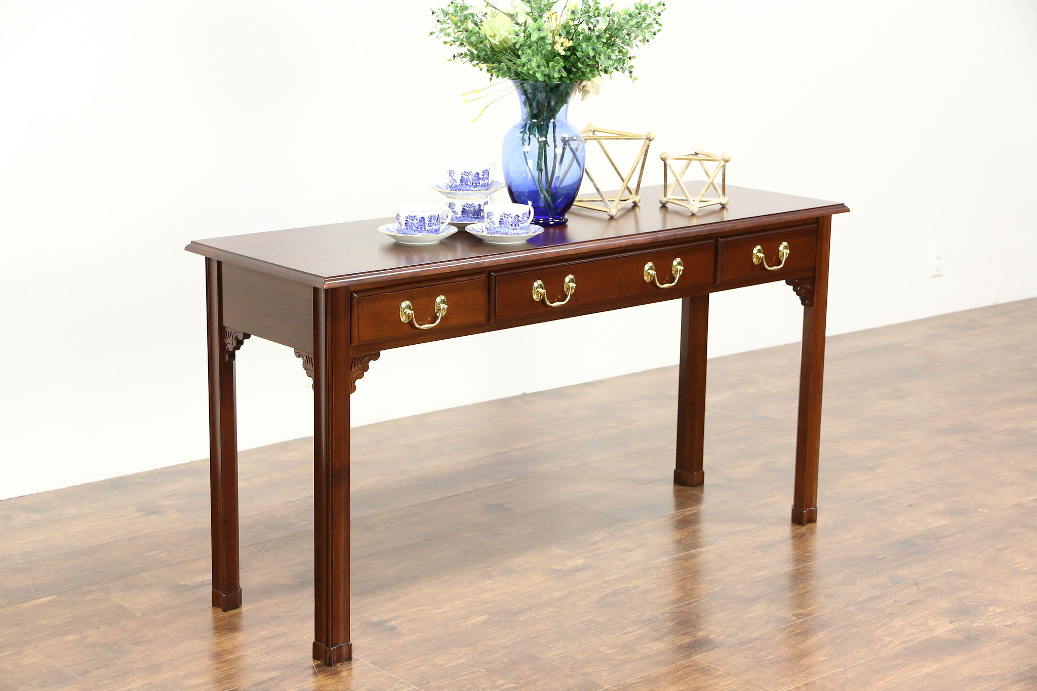 Vintage Hall Table Cherry Vintage Sofa Or Hall Console Table Signed Harden