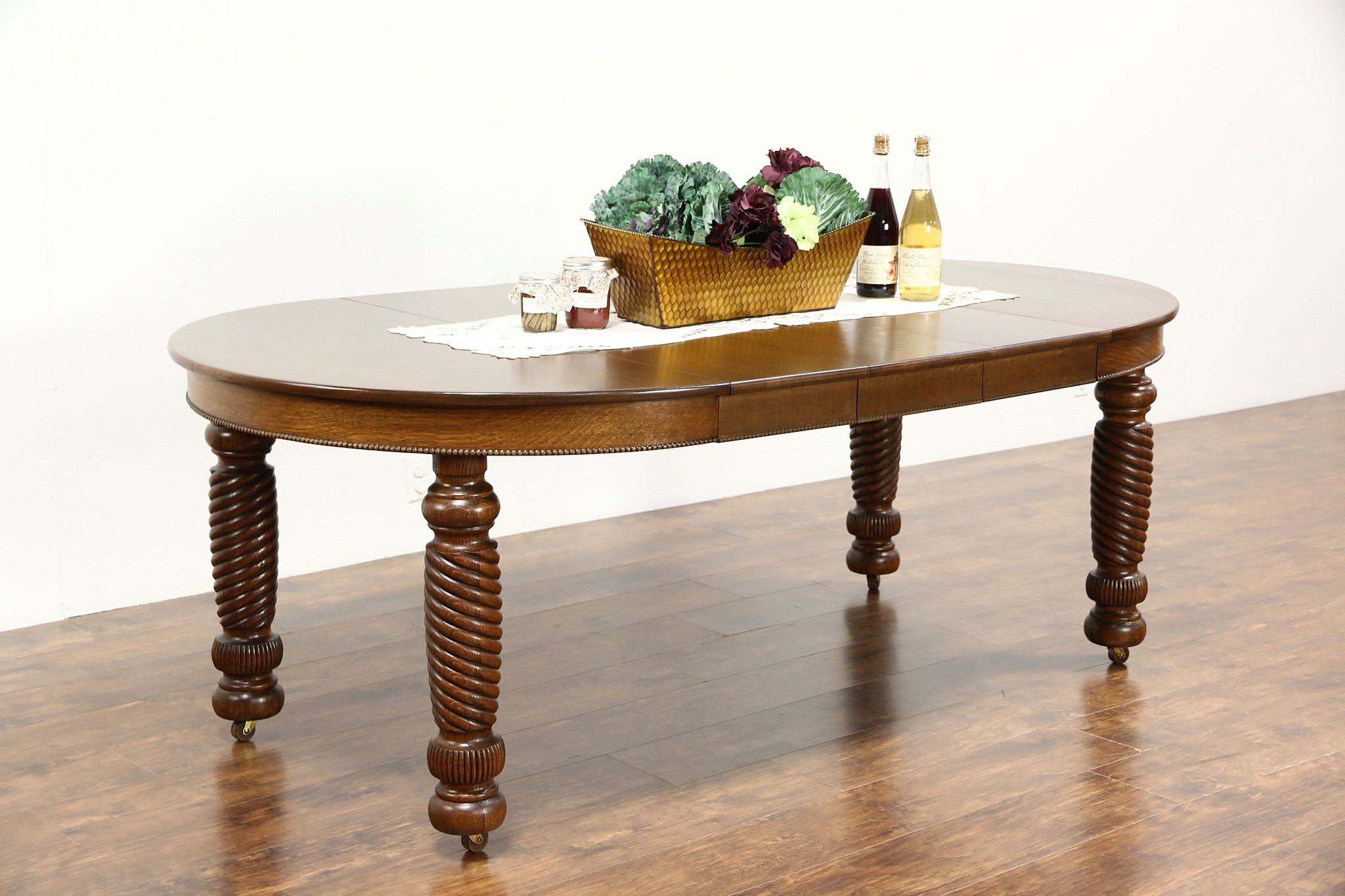 Round Oak Dining Table 45