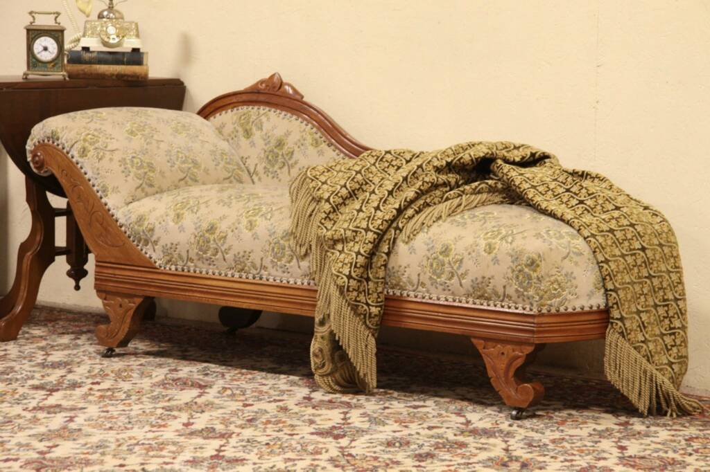 Recamier Sofa Sold - Victorian 1875 Antique Fainting Couch, Chaise Or