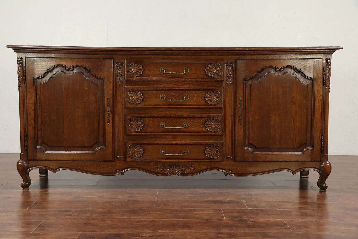 Vintage Sideboard For Sale Uk Details About Country French Oak 1930 Vintage Sideboard Server Tv Console Cabinet 29882