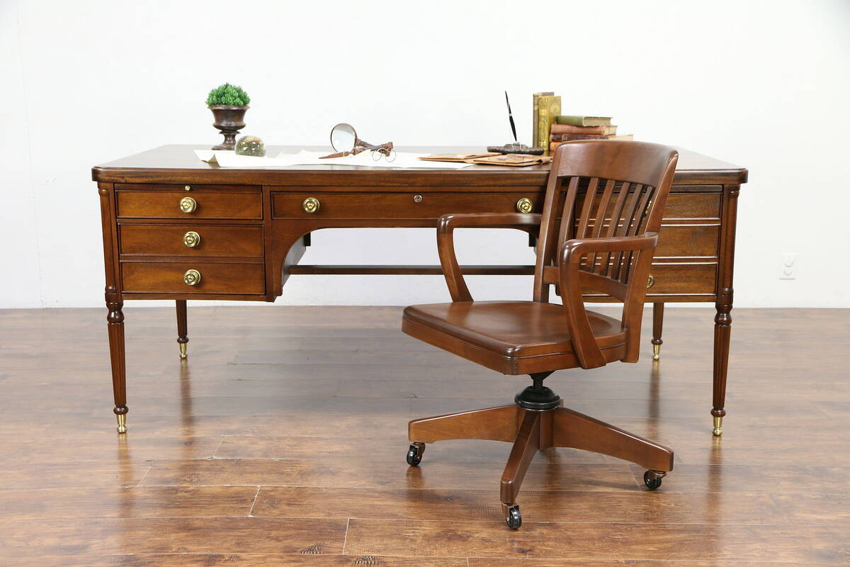 Mahogany Office Desk Details About Washington Vintage 6 Mahogany Executive Library Or Office Desk Rway 30171