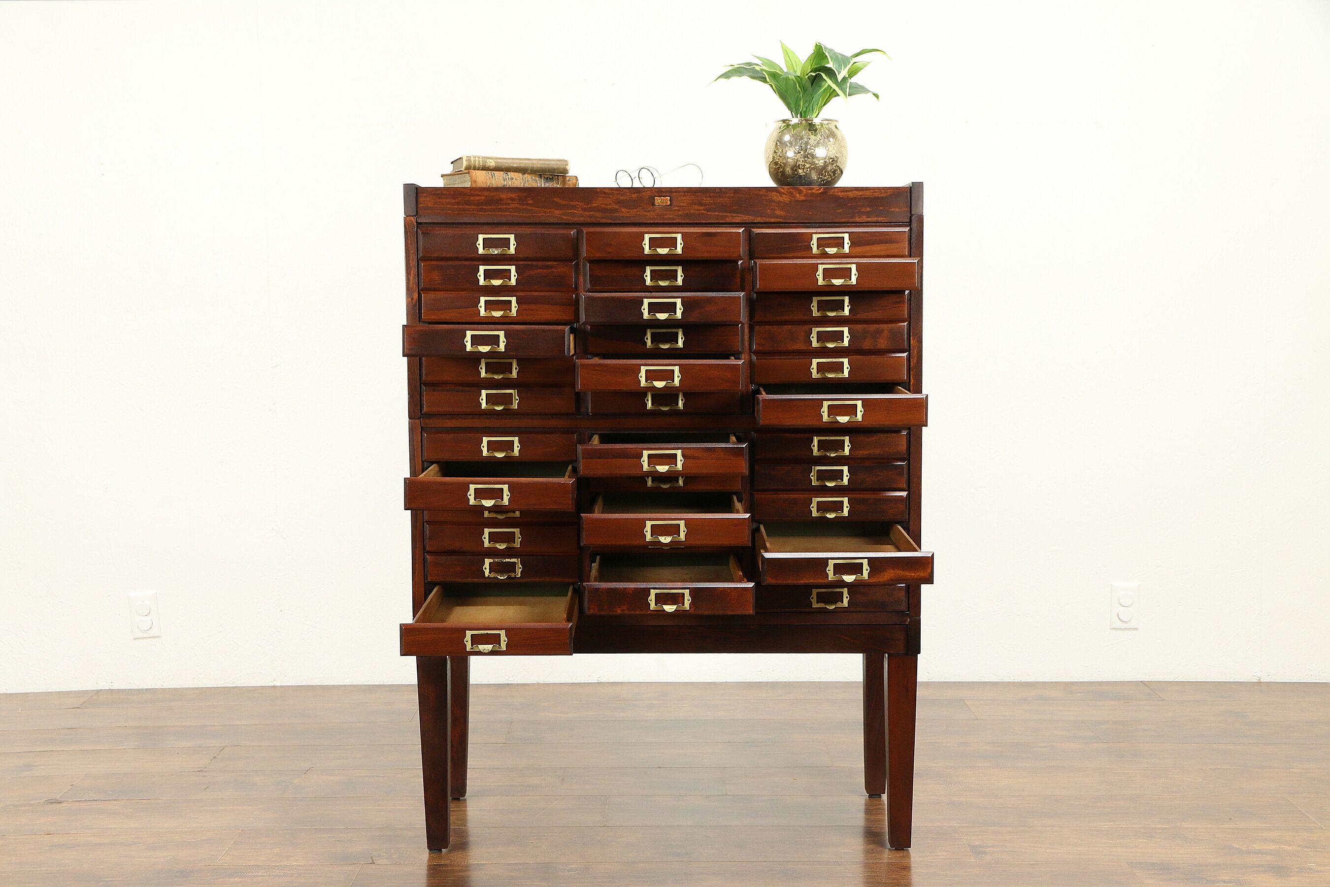 Sold Stacking 36 Drawer Antique 1915 File Collector Or Music Cabinet Weis 31278 Harp Gallery Antiques Furniture