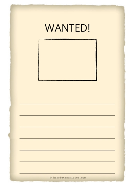 Wanted Poster Template Year 3 – Wanted Poster Letters