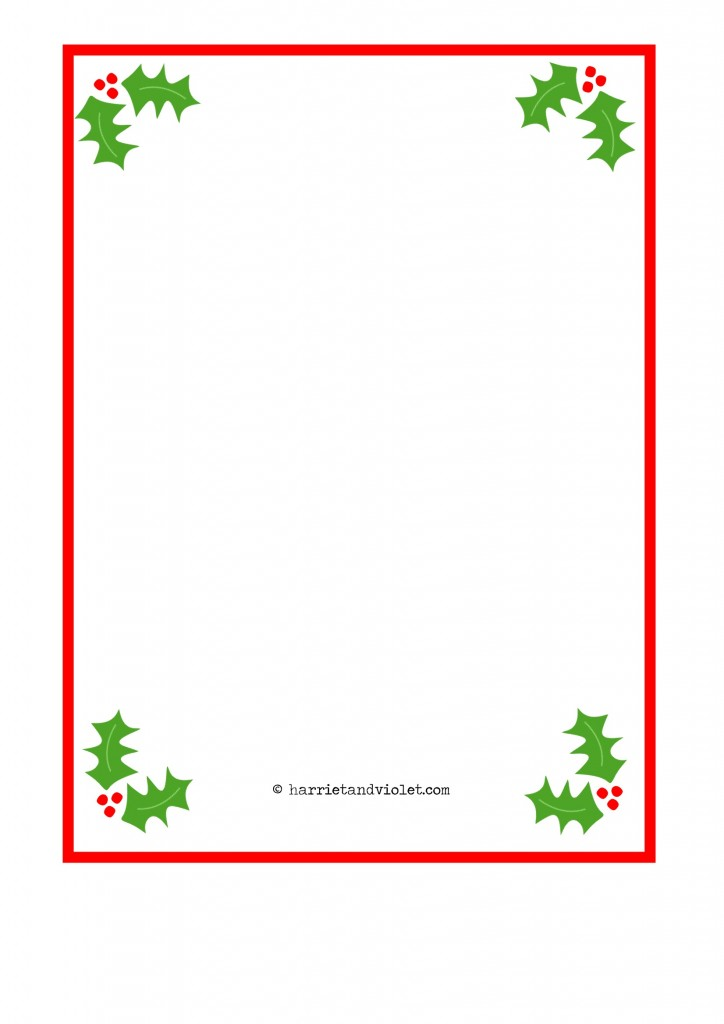 ... Christmas Paper Template Christmas Stationery Template Papers   Border Paper  Template ...