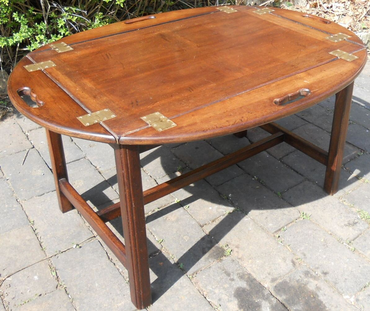 Fold Down Coffee Table Folding Tray Top Mahogany Coffee Table