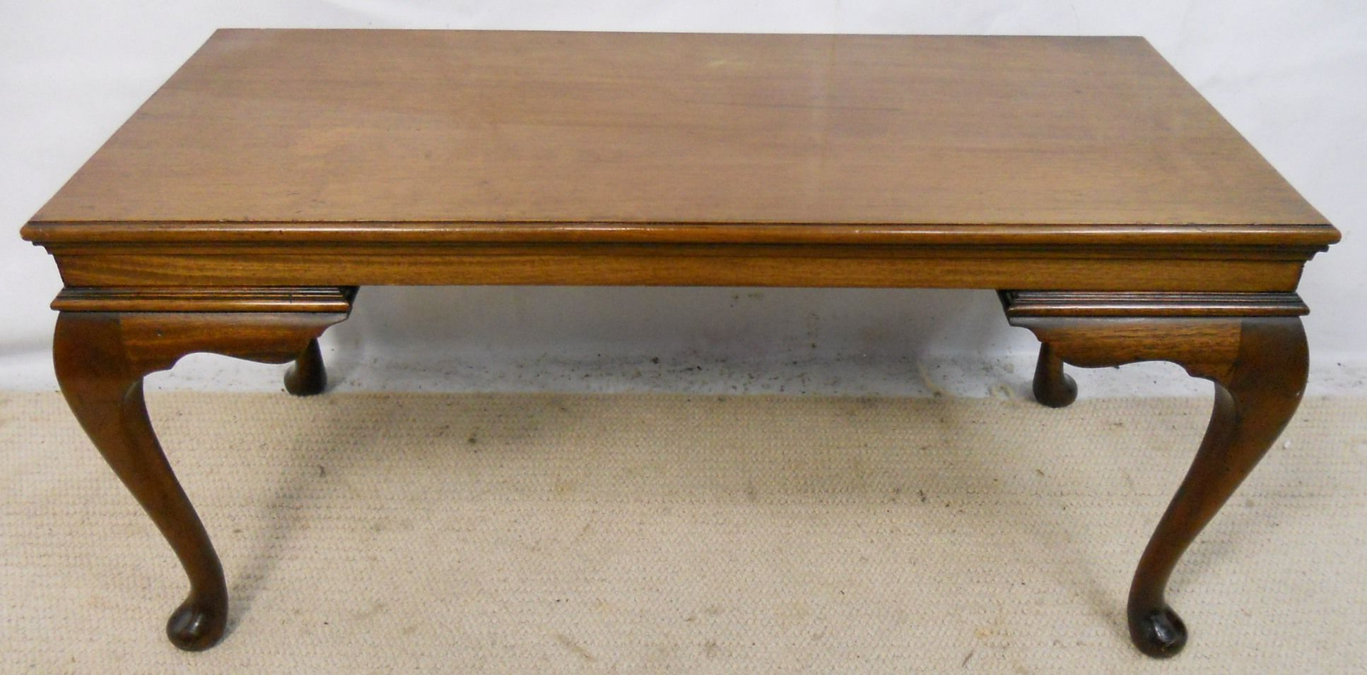 Original Coffee Table Mahogany Long Coffee Table In Antique Georgian Style