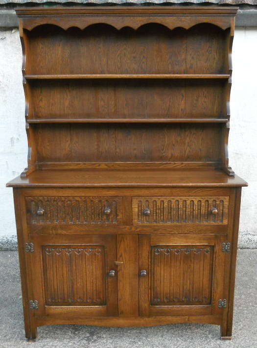 New Metal Kitchen Cabinets Sold - Antique Jacobean Style Oak Reproduction Welsh Dresser