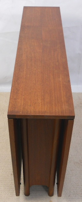Drop Leaf Table Teak Narrow Spacesaver Dropleaf Dining Table To Seat Six -sold