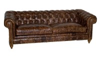 Tufted Leather Sofa IS215-3 Leather