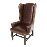 Tall Leather wing Back Arm chair dining