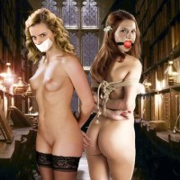 Ginny Weasley and Hermione Jean Granger in bdsm cartoon
